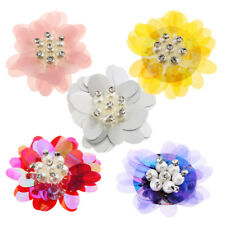 Embroidery Flower Sequin Rhinestone Applique Patch for DIY Bag Dress Decoration