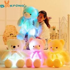 BOOKFONG 50cm Light Up LED Teddy Bear Stuffed Animals Plush Toy Colorful Glowing