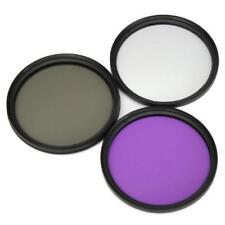 Lens Filter Kits UV+CPL+FLD with Protective Bag for Canon Nikon DSLR Camera