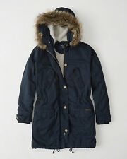 Womens Abercrombie & Fitch Sherpa Fur Hoodie Coat Jacket Size M, L, XL, NWT £200