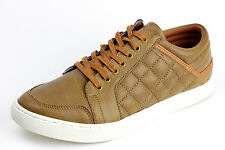 Mens Casual Lace Up Brown Shoes Comfort Italian Designer Trainers Sport UK Size