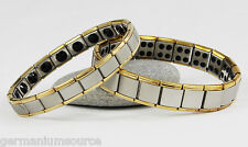 Germanium Bracelet Power Energy 80 20 Stone Health Balance Ion Magnetic 2 Tone!