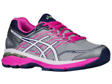 NEW WOMENS ASICS GT-2000 V5 GEL RUNNING SHOES TRAINERS MIDGREY / WHITE D-WIDE
