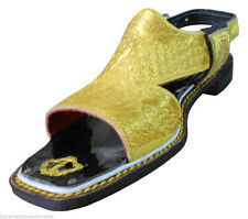 US 6 INDIAN HANDMADE MENS SHOES SANDALS LEATHER TRADITIONAL SLIPPERS