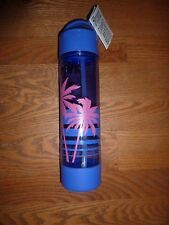 "VICTORIAS SECRET PINK RARE PALM PRINT ""PINK"" 24oz ""PINK"" WATER BOTTLE NWT"