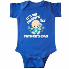 Inktastic Its My Daddys 1st Fathers Day With Baby And Stars Infant Creeper Kids