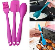 Silicone Spatula Brush Spoon Kitchen Cooking Utensil Baking Mixing Tool Set