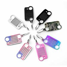 2017 Style American flag Stainless Steel Grill pink Key Chain, Car Key Chain Key