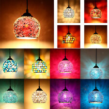 Vintage Style Hanging Light Mosaic Pendant Ceiling Lampshade Stained Glass