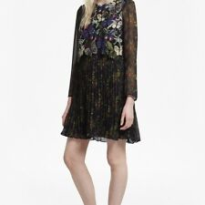 NEW FRENCH CONNECTION WOMENS CASSATT MIX EMBROIDERED FLORAL DRESS
