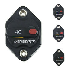 15-40 Amp Car Push Manual Reset Button Circuit Breaker Switch Overload Protector