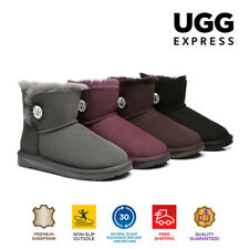 UGG Boots - Ladies Water Resistant Mini Button with Crystal - Clearance Sale