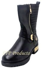 Reneeze Fashionable Combat, Riding Boots/Shoes with Quilt Stripe (Women)
