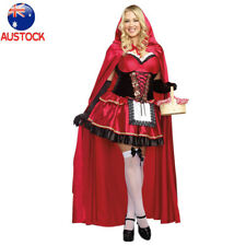 Ladies Halloween Little Red Riding Hood Costume Fairy Tales Fancy Dress Outfit