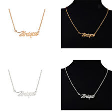 New Handmade Unique Letters Word Pendant Necklace Chain for Women Girl Gift