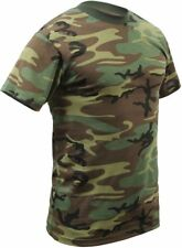 Woodland Camouflage Tactical Military Short Sleeve Army Camo T-Shirt 8777