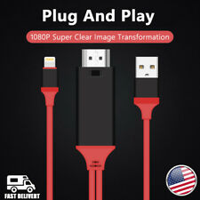 1080P 2M 8 Pin Apple Interface to HDMI TV AV Adapter Cable For iPad Mini2 3 4 US