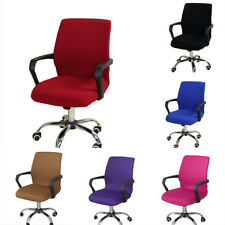 Home Office Computer Chair Covers Swivel Armchair Seat Decorative Protectors