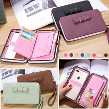Women's Purse Pouch Handbag Wallet Clutch Card Case Cover for iPhone&Samsung