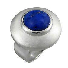 schmuck-michel Ring Silver 925 Lapis Lazuli 12 mm Size 50-65 Available (1110)
