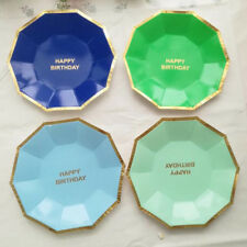 Tableware Paper Plates 8pcs Cake New Disposable Party Birthday Supplies Round