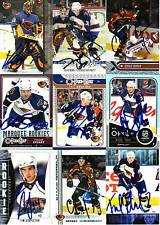 Atlanta Thrashers SIGNED NHL Card YOUR CHOICE ++New Cards added++