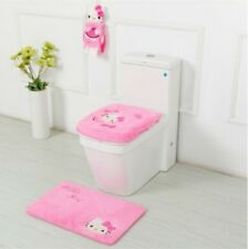 Hello Kitty bathroom sets & accessories - toilet seat cover bath mat toothbrush