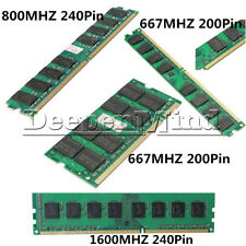 2GB/4GB Memory RAM DDR2 PC2-5300/U 667/800/1600MHZ 200/240Pin PC Desktop Memory