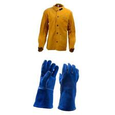 Heavy Duty Leather Welding Jacket M L XL XXL  Extra-Large and Gloves