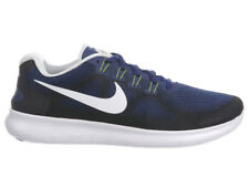 NEW MENS NIKE FREE RN (RUN) 2017 RUNNING SHOES TRAINERS BINARY BLUE / WHITE / BL