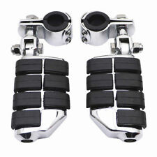 """1-1/4"""" Highway Aluminum Foot Pegs Engine Guard Mounts Clamps Fits Harley Touring"""