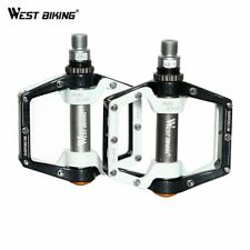 """WEST BIKING Cycling Pedals Fixed Gear MTB BMX Bicycle Pedals 9/16"""" Foot Pegs Out"""