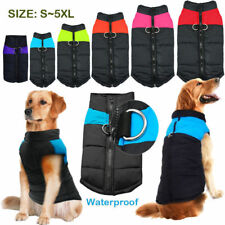 Waterproof Dog Pet Padded  Clothes Warm Winter Vest Jacket Coat Attach to Leash