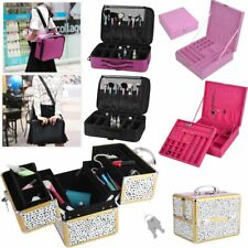 MakeUp Box Extra Large Space Storage Nail Jewelry Cosmetic Vanity Beauty Case