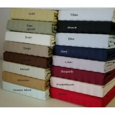 New Collection 1 pc Bed Skirt 1000 TC Egyptian Cotton Strip 15 Inch Drop Length
