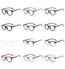 Unisex Retro Fashion Vintage Glasses Round Clear Lens Eyewear Women Men Scholar