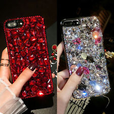 Luxury Bling 3D Crystal Diamond Rhinestone Jewelled Case Cover Fr iPhone Samsung