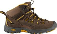 KEEN Alamosa Mid Boys Size 9 (Toddler) Brown/Olive Waterproof Leather Boots, $80