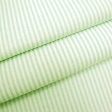 Candy 3mm Woven Chambray Stripe - Lime - Cotton Blend Fabric Dressmaking Patchwo