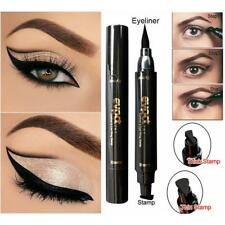 Chic 3Pcs Dual-ended Liquid Eyeliner Pen+Stamp Cat Eyeshadow Ruler Template TS #