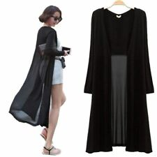 Ankle Length Sweater Coat Women Knitted Long Sleeve Black Sweaters Dress