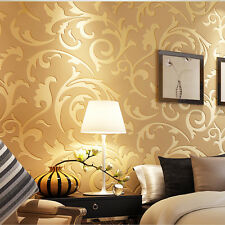 Modern 3D 10M Wallpaper Bedroom Living Wall Background Home Stripe Mural Roll