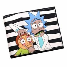 Rick and Morty wallet PU Faux Leather Bifold Wallet ID Credit Card Holder studen