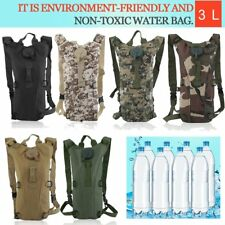 US Outdoor Hydration Backpack 3L Bladder Water Bag Hunting Climbing Hiking HT