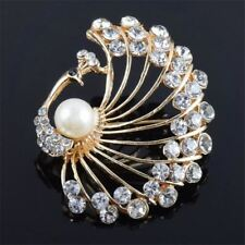 Peacock  Retro Brooch Fashion Jewelry For Women Hats Scarf Suit Brooch