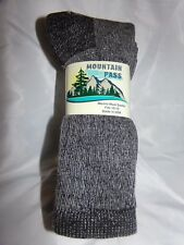 3 or 6 Pair Size 10-13, Gray  Thermal Boot Socks With *****72% Merino Wool*****