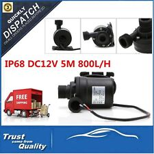 IP68 DC12V 5M 800L/H Ultra Quiet Brushless Motor Submersible Pool Water Pump BS