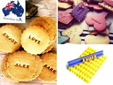Letters Alphabet Numbers Stamp Cookie Biscuit Embosser Fondant Sugercraft Mold B