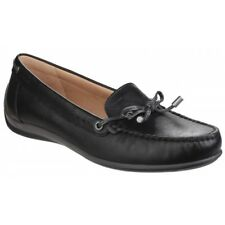 GEOX YUKI Ladies Womens Synthetic Leather Lightweight Comfort Loafers Black New