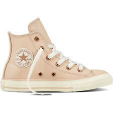 Converse Chuck Taylor All Star Leather Hi Particle Beige Leather Youth